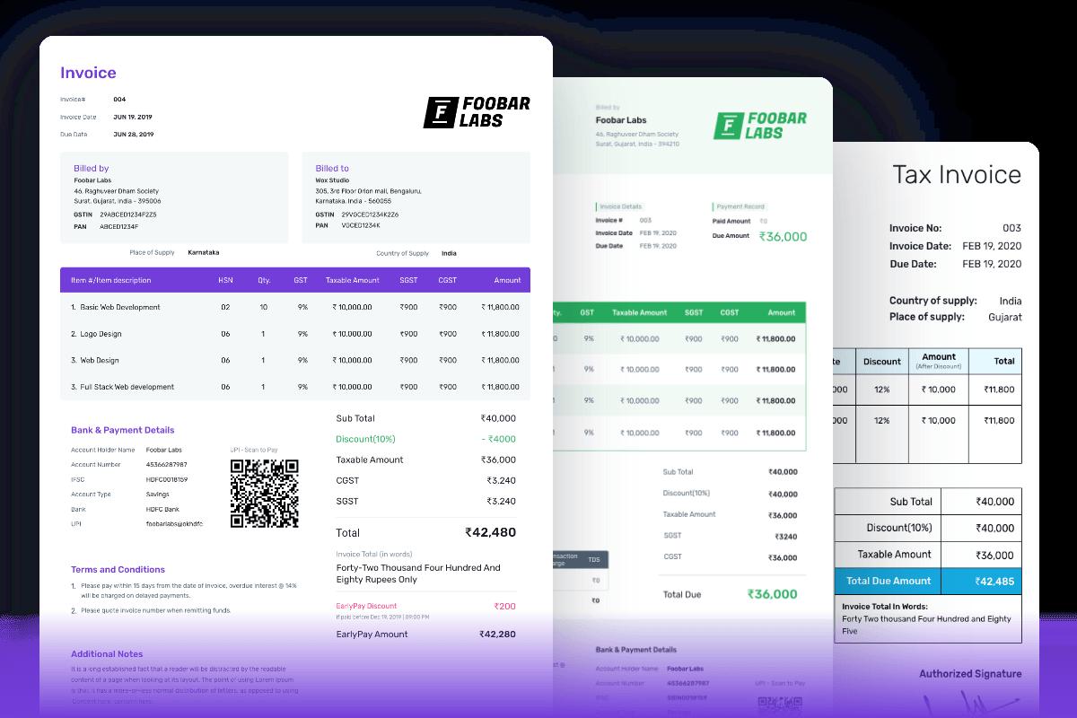 Invoice generator - create online invoice