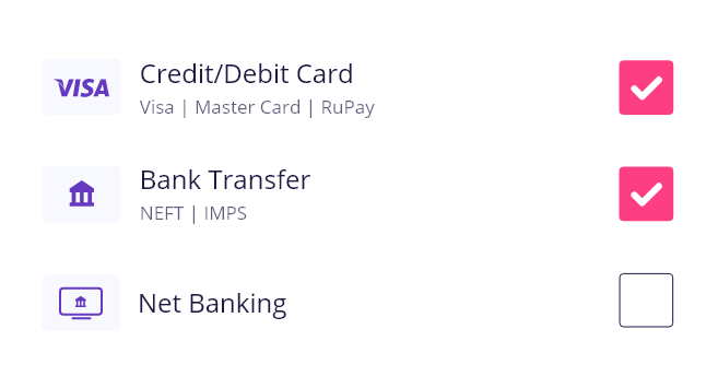Enable payment options